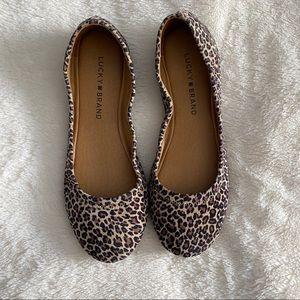 Lucky Brand ☘️ Leopard Flats